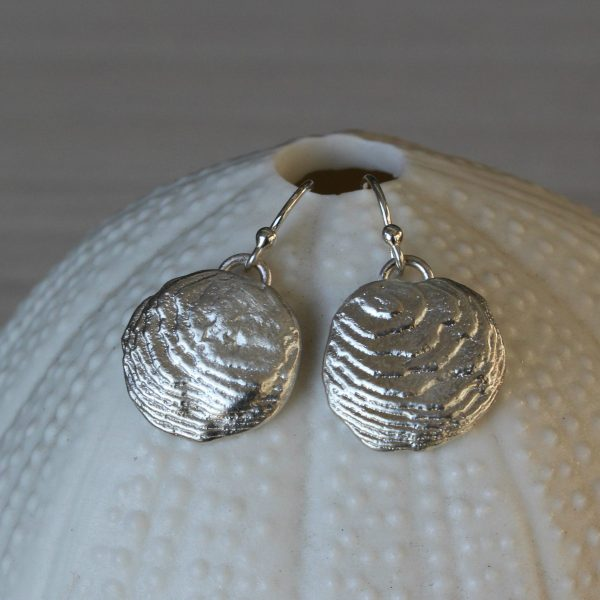 Blinkidees One-of-a-kind carved sterling silver earrings