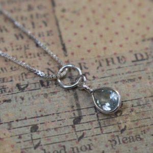 Sterling silver birthstone charm & chain